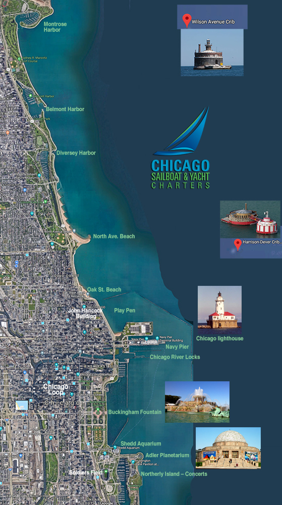 Day Sails – Chicago Sailboat and Yacht Charters – Belmont Harbor